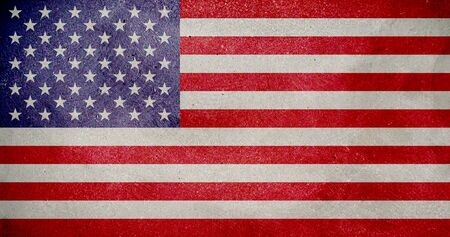 declaration: American flag painted on the wall