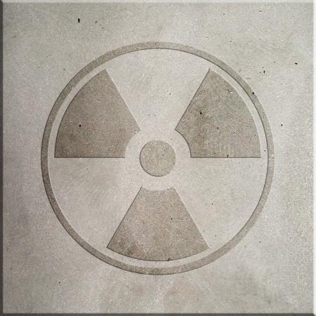 Radiation symbol embossed on concrete Stock Photo - 22961860