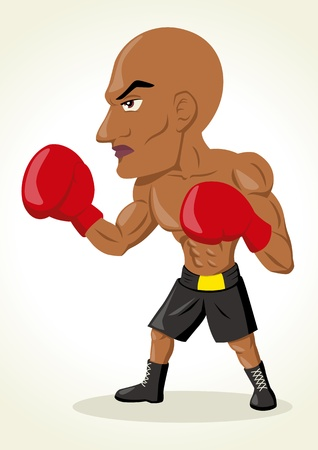 Cartoon illustration of a boxer Vector