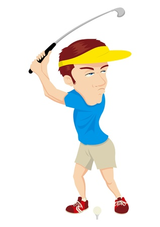 Caricature of a golfer Vector