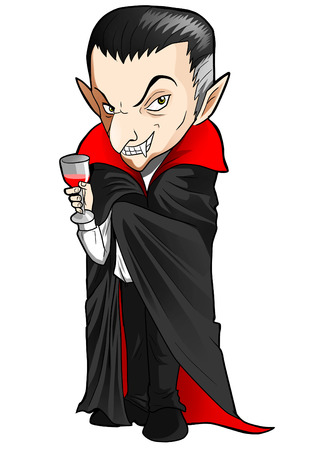 nosferatu: Cartoon illustration of a Dracula