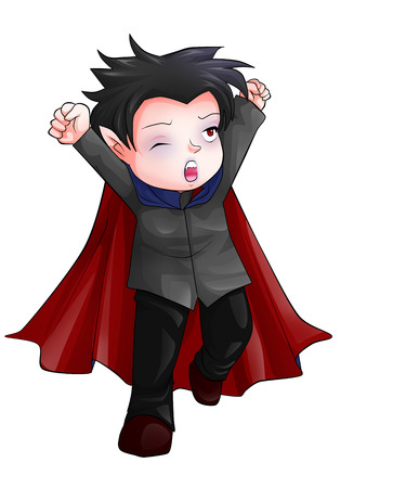 Cute cartoon illustration of Dracula Stock Illustration - 23572562