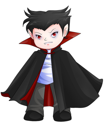 Cute cartoon illustration of Dracula Stock Illustration - 23572563
