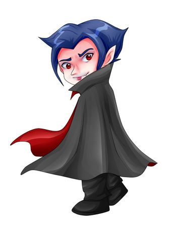 Cute cartoon illustration of Dracula Stock Illustration - 23572564