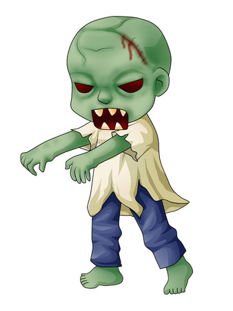 Cartoon illustration of a zombie Stock Illustration - 23572592