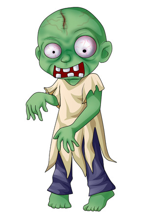 disgusting: Cartoon illustration of a zombie Stock Photo