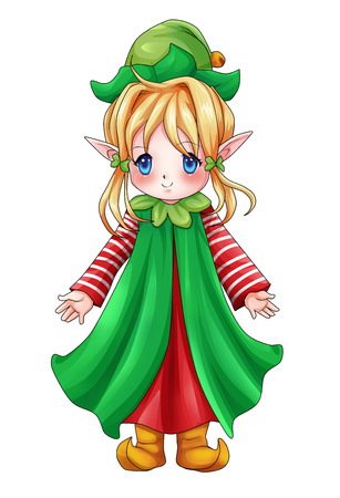 Cartoon illustration of character for Christmas illustration
