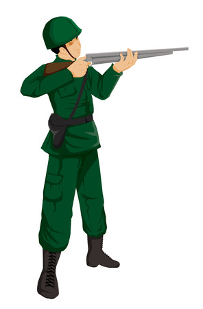 gunman: Illustration of a soldier action figure
