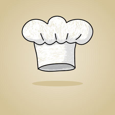 chef s hat: Sketch illustration of a chef hat