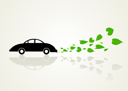 emission: Conceptual illustration of a low or zero emission vehicle
