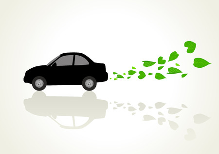 environmentally friendly: Conceptual illustration of a low or zero emission vehicle