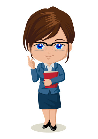 Cute cartoon illustration of a teacher Vector
