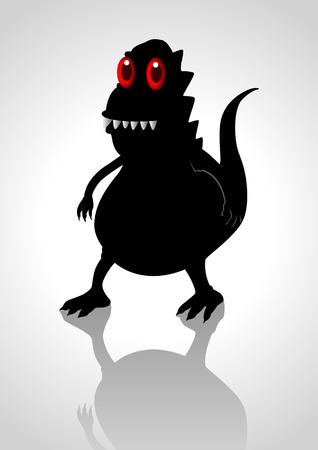 Silhouette illustration of a strange creature Vector