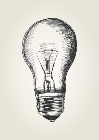 電球のスケッチ図