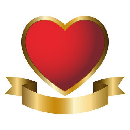 Illustratie van een hart symbool embleem