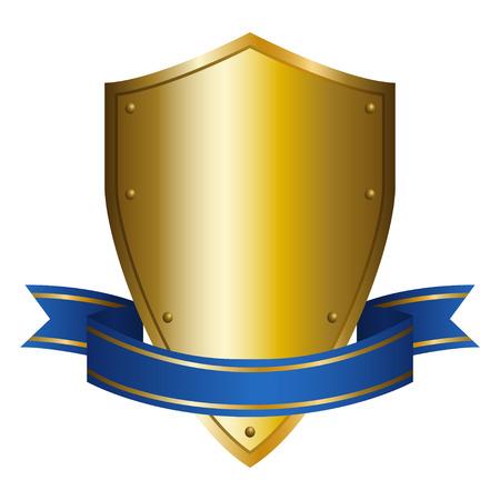 Illustration of a shield emblem