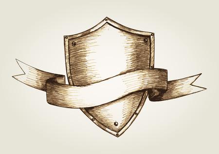 chivalry: Sketch illustration of a shield emblem