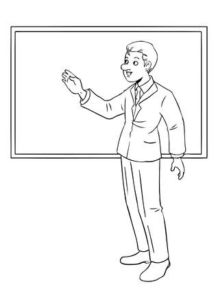 Ilustración De Dibujos Animados De Un Hombre De Negocios Que