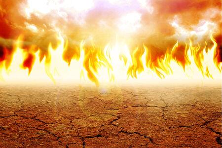 exploit: Illustration of fire on arid land