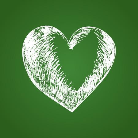heart sketch: Sketch illustration of heart symbol