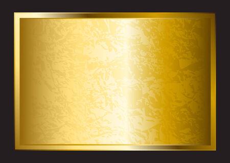 haltbarkeit: Eine Goldplatte auf schwarzem Hintergrund isoliert Illustration