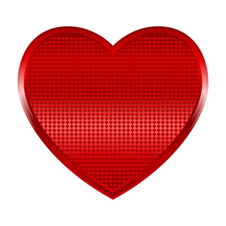 shinning: Vector illustration of a shinning heart Illustration