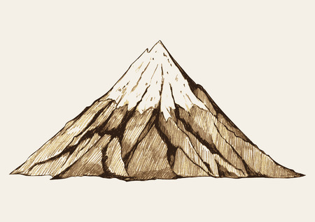 Sketch illustration of a mountain Illustration