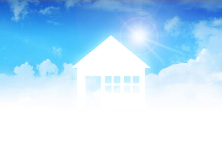 dream house: Dream house on clouds, concept design for real estate