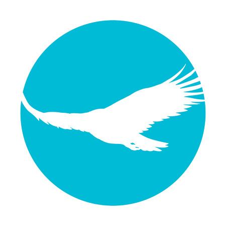 Icon of a soaring eagle Illustration