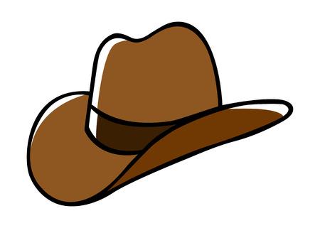 kapelusze: Doodle ilustracja kowbojskim kapeluszu Ilustracja