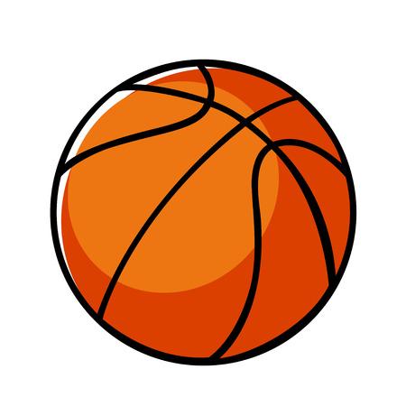 in the basket: Doodle illustration of a basket ball Illustration