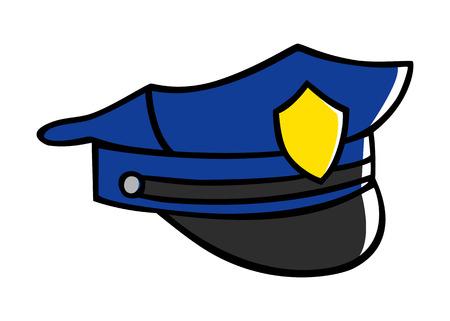 police hat: Doodle illustration of a police hat Illustration