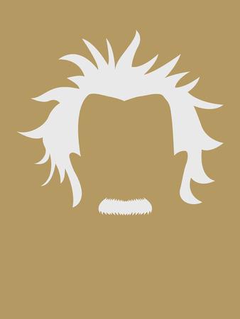 Man met snor en grijs haar symbool Stockfoto - 39056482