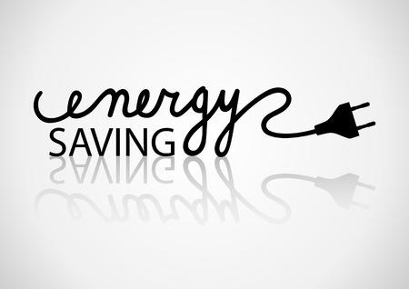 ahorro energia: Tipografía de ahorro de energía