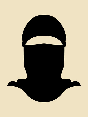 Symbol Of A Man Wearing Full Cover Mask Vector
