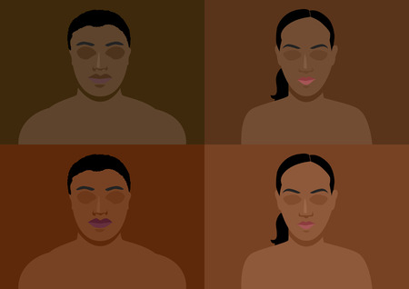 skin tones: Skin tone for colour palette