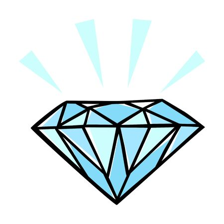 flawless: Doodle style illustration of a diamond Illustration