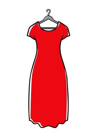 hanger: Red dress on hanger