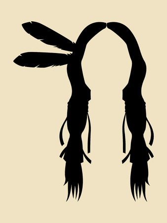 Face Symbol of North American Indian Illustration