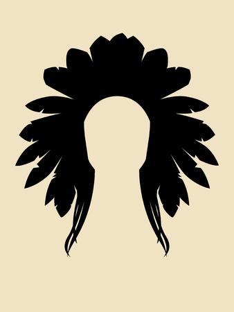 chieftain: Volto simbolo di capo North American Indian Vettoriali