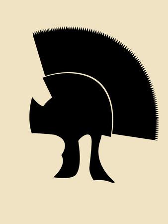 roman empire: Symbolic illustration of roman general helmet Illustration