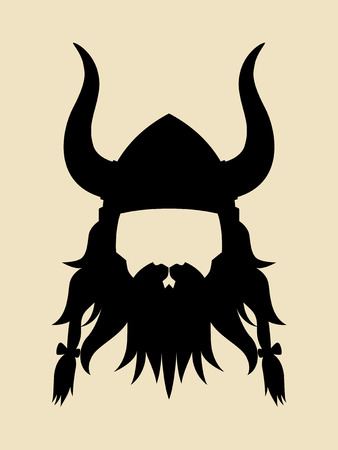 ancient warrior: Face symbol of an ancient viking Illustration