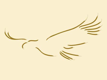 Simple sketch of a soaring eagle