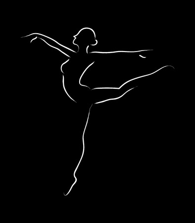 Simple graphic of a ballerina Illustration