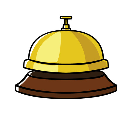 Doodle illustration of a concierge bell Vector