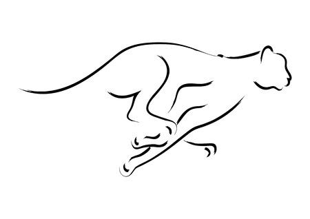 Graphique simple d'un guépard Banque d'images - 41191802