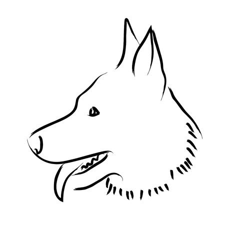 Simple graphic of a dog
