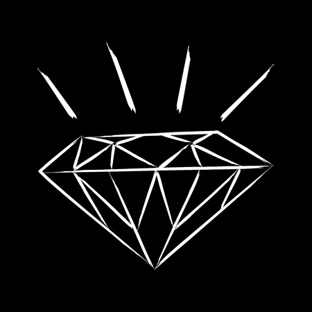 flawless: Simple graphic of a diamond