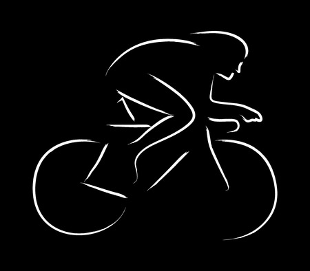 stamina: Simple graphic of a cyclist