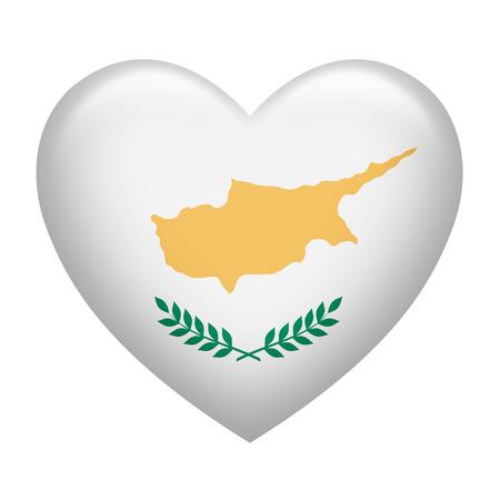 eurasian: Heart shape of Bosnia Herzegovina flag isolated on white